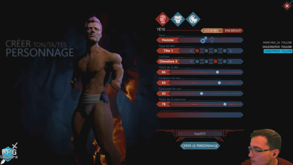 Citadel création personnage