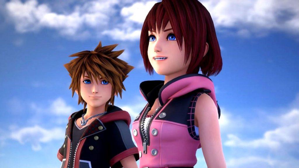 Sora Kairi dans Kingdom Hearts III ReMind