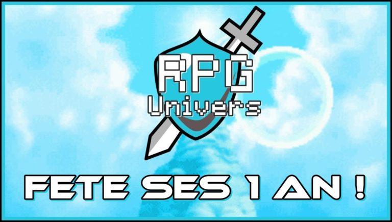 RPG Univers fête ses 1 an !